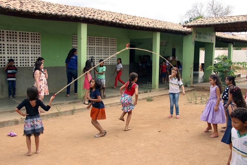 Escola Coração de Jesus, em Coreaú: 13ª do País (Foto: Jéssica Welma/Tribuna do Ceará)