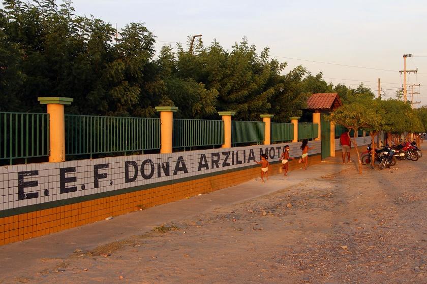 Escola Arzília Mota, em Granja: 15ª do País (Foto: Jéssica Welma/Tribuna do Ceará)