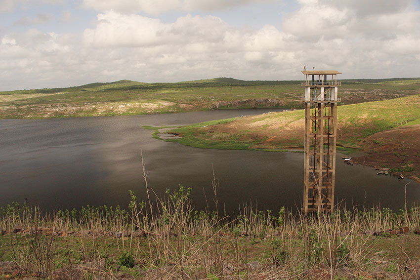 Açude Banabuiú é o terceiro maior do Ceará. (Foto: Jéssica Welma/Tribuna do Ceará)