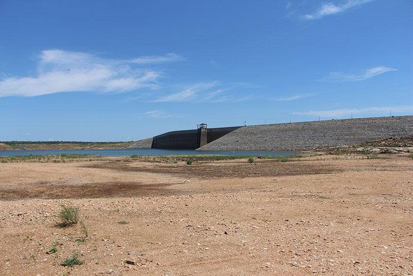 Barragem do açude Castanhão. (Foto: Jéssica Welma/Tribuna do Ceará)(Foto: Jéssica Welma/Tribuna do Ceará)